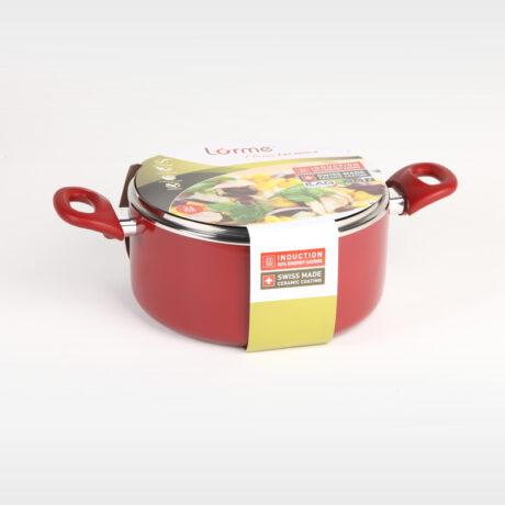 Classic Ceramics Deep pot with glass lid 24cm/5l
