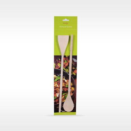 Natura Wooden masher&spatula set