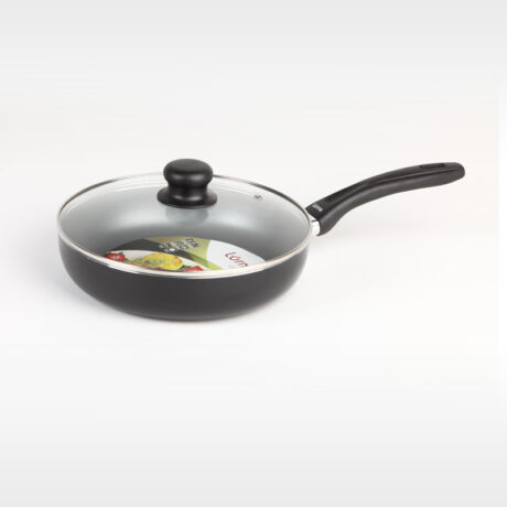 Classic Deep fry pan with glass lid 24cm